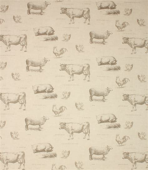 Farm Fabric / Charcoal   Just Fabrics