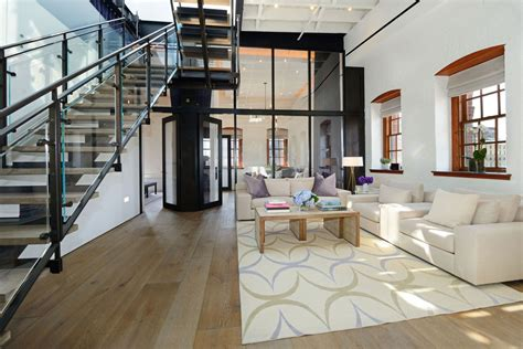 Home Interior Arch Designs by Warehouse Penthouse Loft Blends Modern New York With Old
