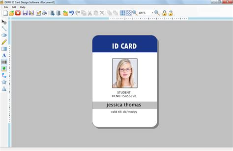 identification card template id card software design student school college employee id