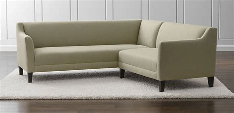 crate and barrel l shaped couch best small modern sectionals freshome