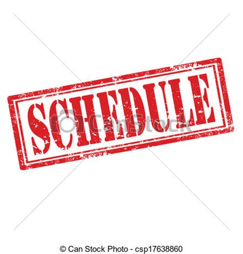 Schedule Clipart Free clip vector of schedule st grunge rubber st