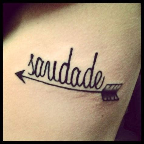 saudade tattoo just got my it s on my ribs quot saudade quot is