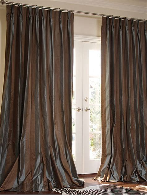 silk drape curtains ideas 187 french pleat curtains inspiring