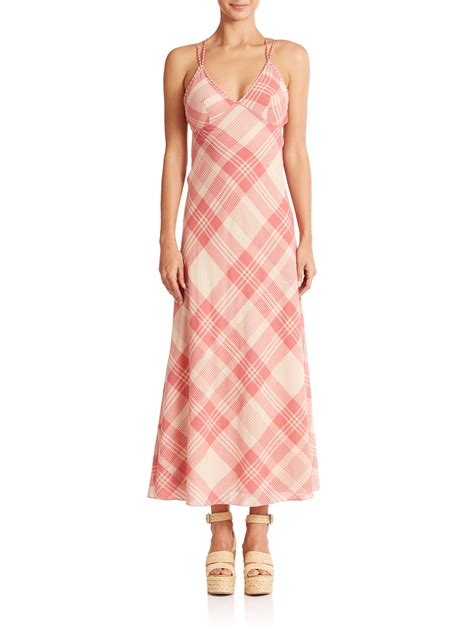 Tartan Maxi Ld 110 lyst polo ralph plaid maxi dress in