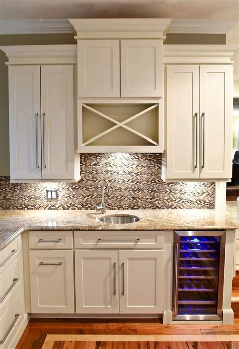 built in wine bar cabinets wet bar built of white shaker cabinets with built in wine