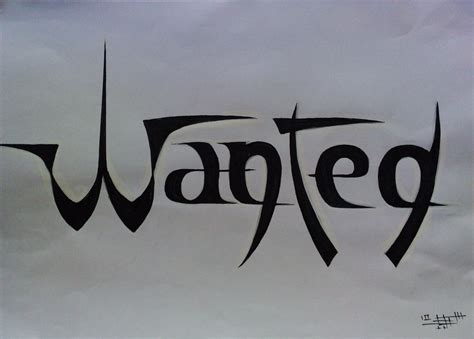 logo artist wanted wanted logo by samir alaoui on deviantart