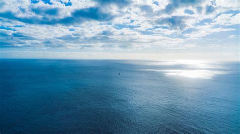 fond decran mer ciel nuages horizon hd grand ecran