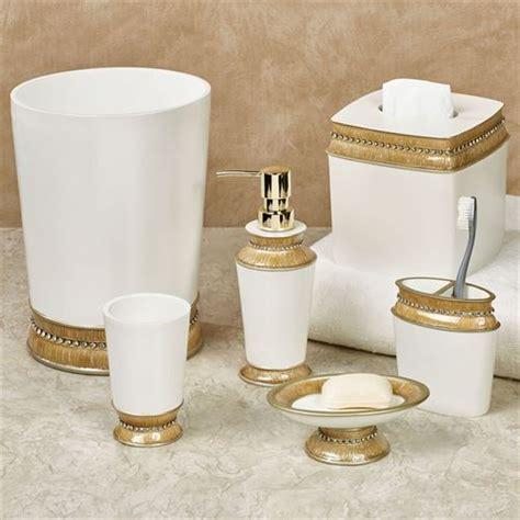Chic Gold Trim Bath Accessories Chic Bathroom Accessories