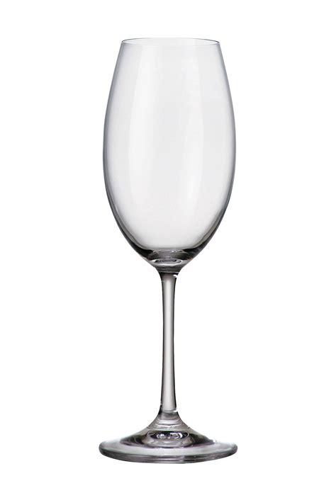 Bicchieri Bohemia Set 6 Bicchieri Bianco Barbara In Cristallo Bohemia