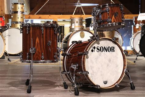 sonor sq maple pc jazz drum set rosewood gloss dcp