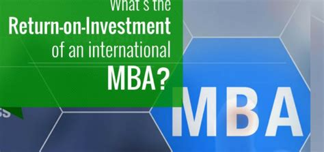 Whats Before Mba by What S The Return On Investment Of An International Mba