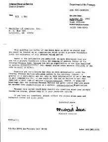 Irs Certification Letter financial information nautilus institute for security and
