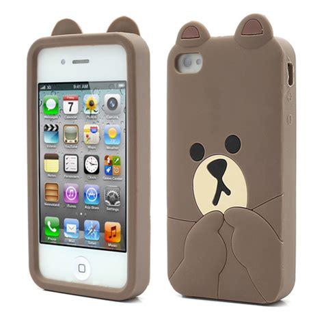 Iphone 7 3d Silicone Line Brown Fashion Casing Cover Bumper line brown iphone 4 and iphone 5 cases kawaii