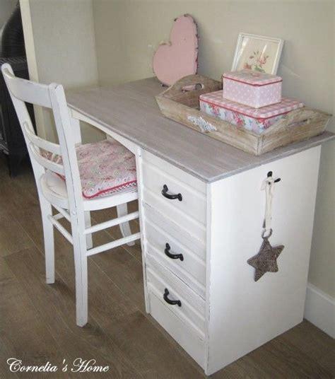 bureau brocante landelijk brocante bureau wit met vergrijsd blad