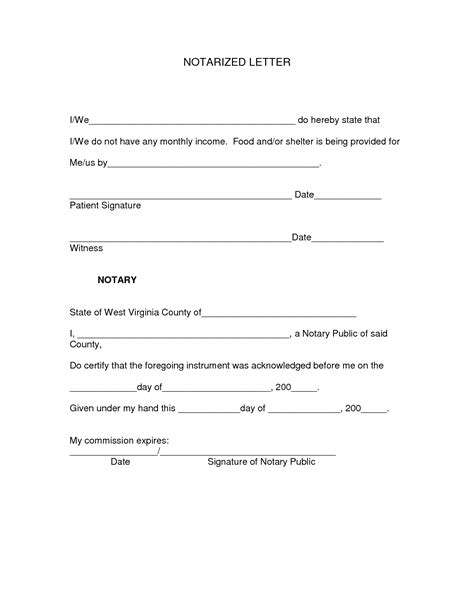 notarized letter template best photos of letter with notary signature exle