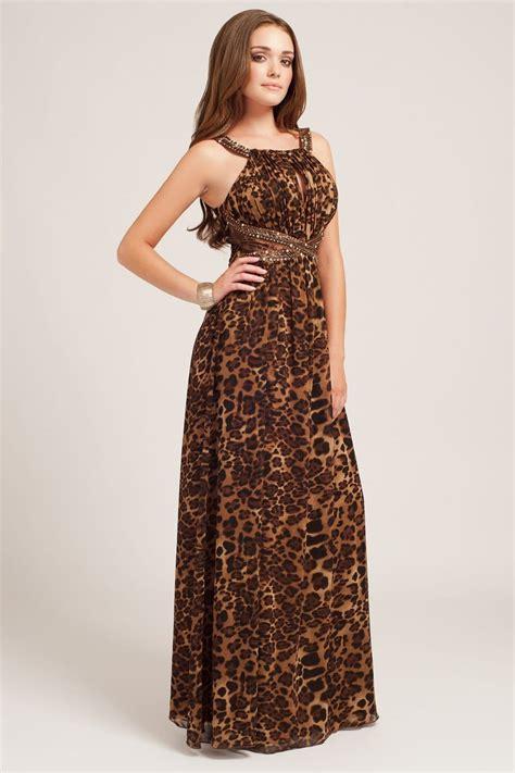 Maxi Dress Leopard leopard lace panel maxi dress