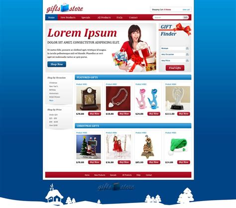 shopping cart template for gifts shopping web template shopping cart website