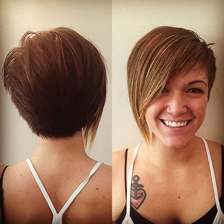 photos of short haircuts front and back for thin hair short haircuts front and back view