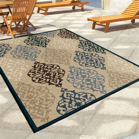Large Indoor Outdoor Rugs Orian Rugs Indoor Outdoor Scroll Hastings Multi Area Large Rug 1843 8x11 Orian Rugs
