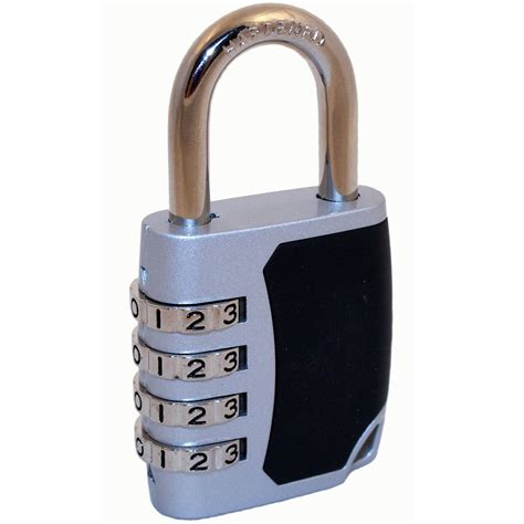 Alarm Padlock fjm security products 4 chrome combination padlock