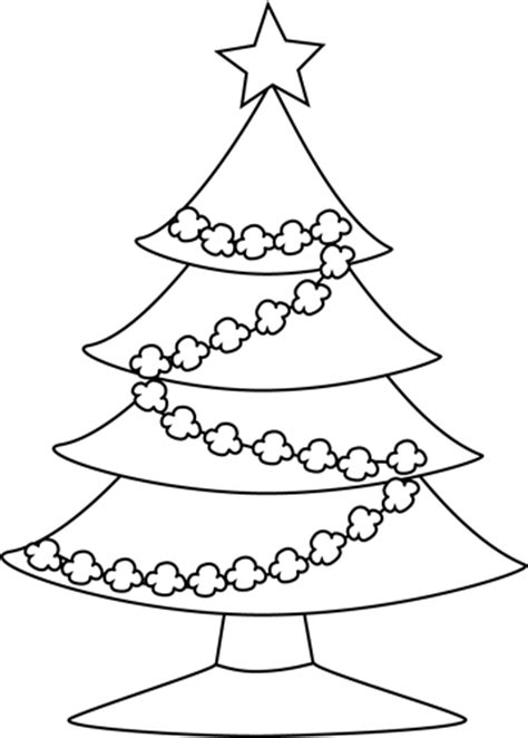 search results for clipart outline christmas tree to
