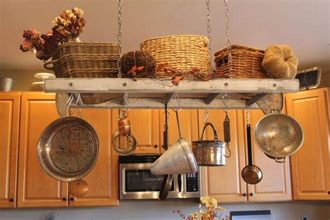 kitchen island hanging pot racks simple racks that can improve your home s storage capacity