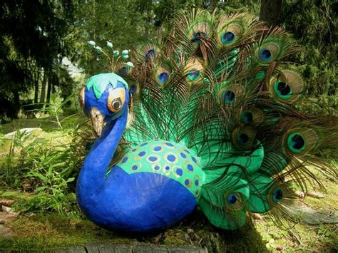 How To Make A Paper Mache Peacock - quot my peacock quot by fritz paper mache is cartapesta