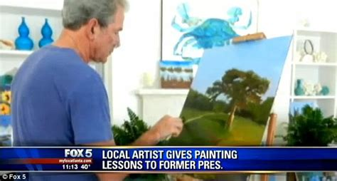 george w bush bathtub painting bill clinton jokes about wanting george w bush to paint