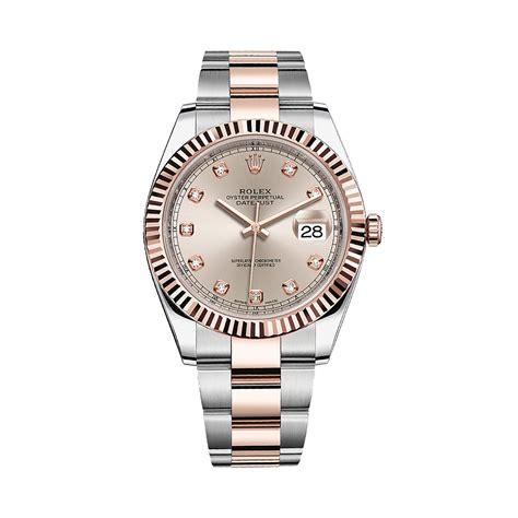 Rolex Datejust Combi Rosegold rolex datejust 41 126331 gold stainless steel sundust set with diamonds world s