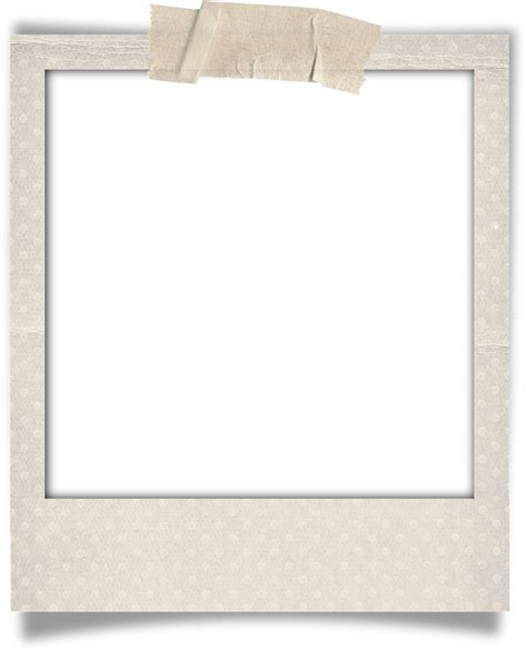 polaroid picture holder card template taped polaroid fehr designs png 1 291 215 1 600