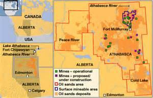 canada tar sands map news americas canada s black gold