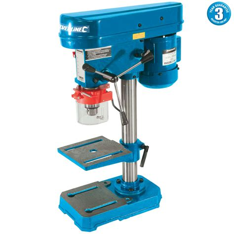 bench drilling silverline 350w bench drill press rotary pillar drilling