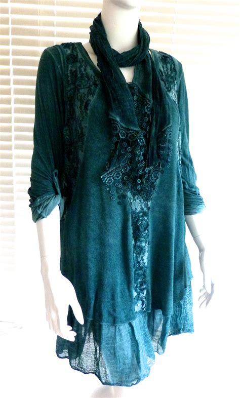 J 7381 Tunic Set gorgeous italian lagenlook knit and lace tunic dress set mona boutiquej2s