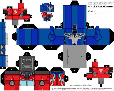 How To Make Optimus Prime Out Of Paper - cubee optimus prime tf prime v2 by cyberdrone on
