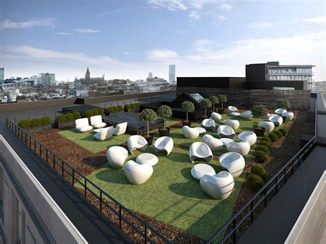 Furniture Made Out Of Recycled Materials by Place North West Bruntwood To Create Roof Garden At