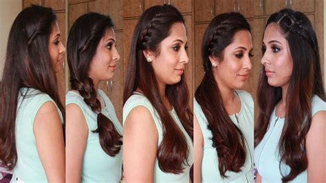 simple hairstyles at home in hindi 5 quick easy hairstyles heatless hairstyles youtube
