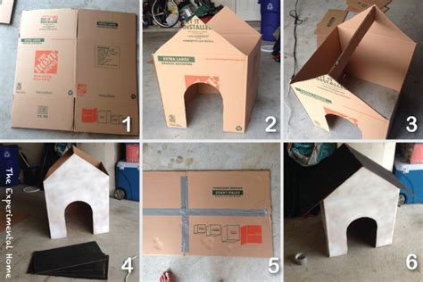 how do you make a dog house how to make a cardboard box dog house at