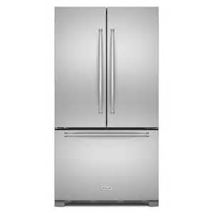 shop kitchenaid 20 cu ft 3 door counter depth door