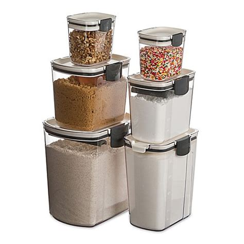 nova brown canisters set of 4 bed bath beyond progressive prokeeper 6 piece set bed bath beyond