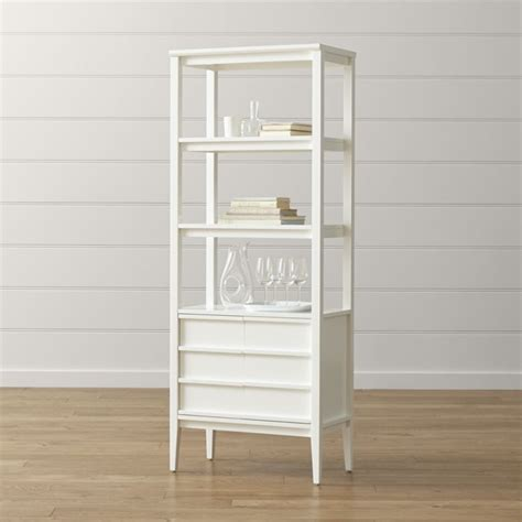 spotlight white bookcase crate and barrel