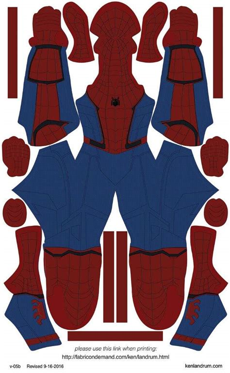 superior spider man pattern spider man homecoming cosplay amino