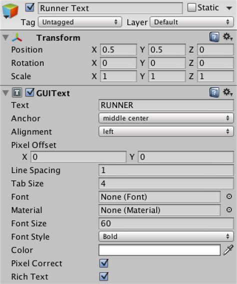 unity tutorial text runner a unity c tutorial