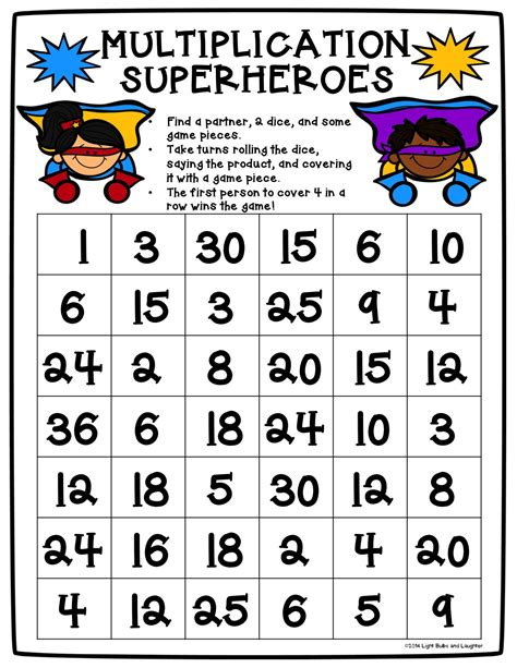 printable division games for the classroom great beginning multiplication worksheets games free