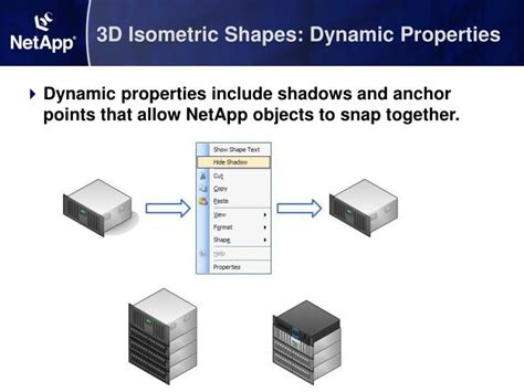 visio shape properties ppt guided tour netapp visio library powerpoint