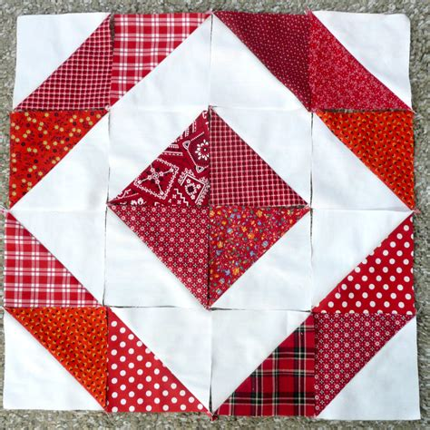 Triangle Blocks half square triangle quilt block pattern how to make