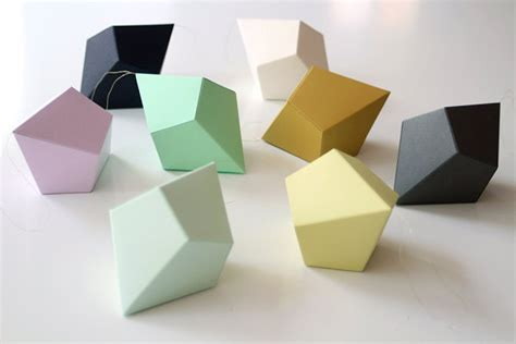 Geometric Shapes With Paper - three stylish decor ideas for a baby proof interior