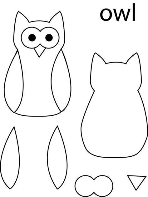 printable owl cut outs owl template beepmunk