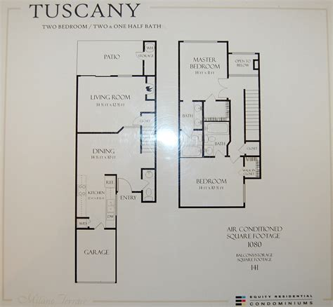 tuscany floor plans milano terrace condos for sale