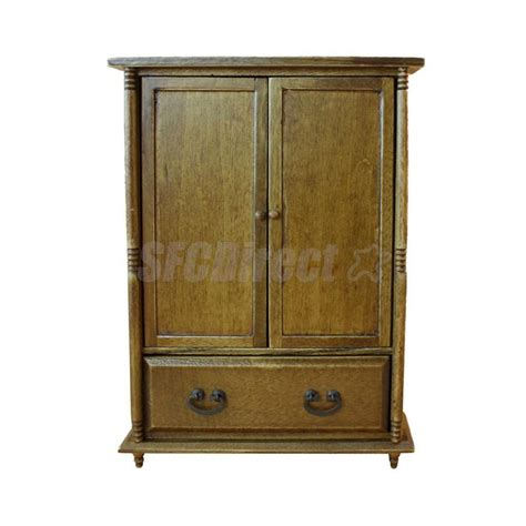 Furniture Wardrobe by Dollhouse Miniature Bedroom Furniture Accessory Wood