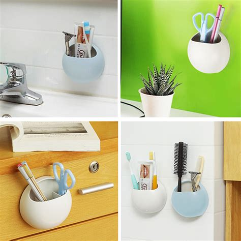 Wall Suction Toothbrush Holder wall suction soap box toothbrush holder bathroom storage